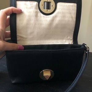 kate spade Bags - Kate Spade Small Black Leather Purse with Strap